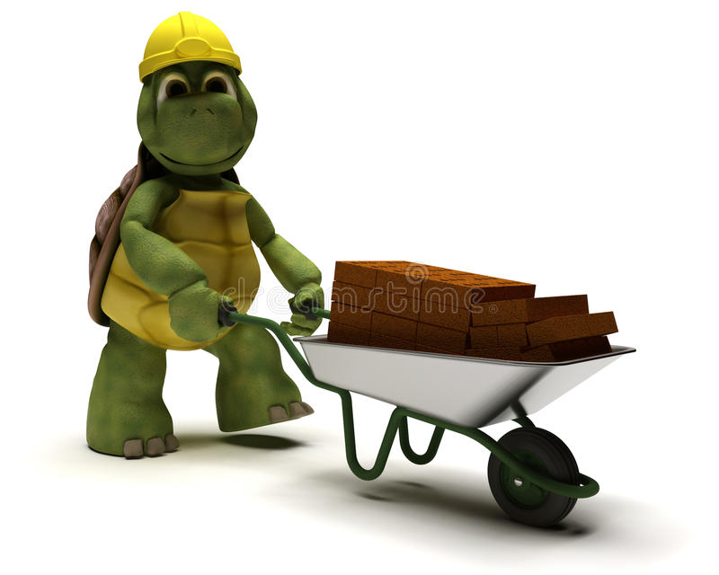 Tortoise builder vector illustration