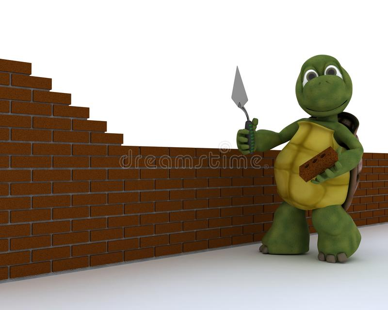Tortoise building contractor stock illustration