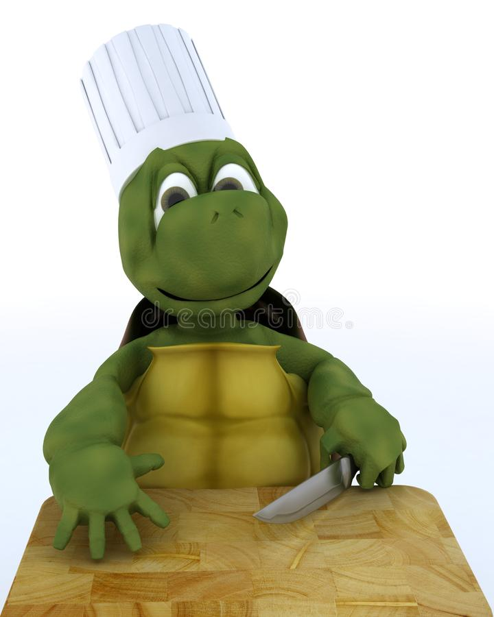 Tortoise Caricature as a Chef royalty free illustration