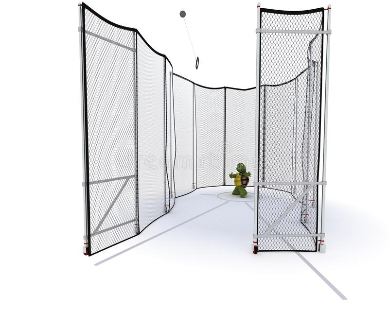 Tortoise Competing In Hammer Throw Royalty Free Stock Photos