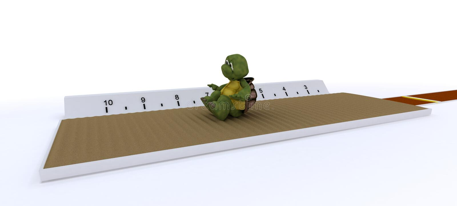 Download Tortoise Competing In Long Jump Stock Illustration - Image: 25291119