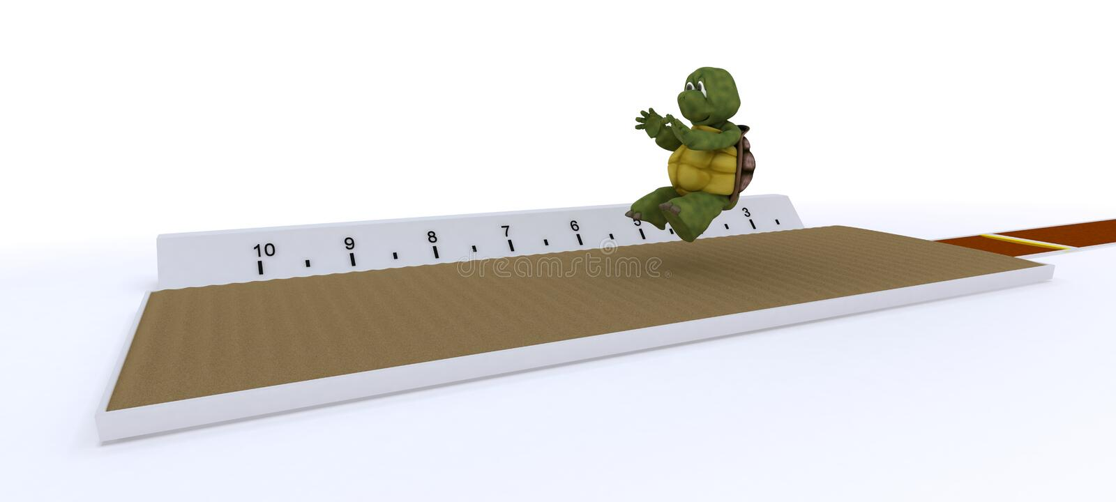 Download Tortoise Competing In Long Jump Stock Illustration - Image: 25291145