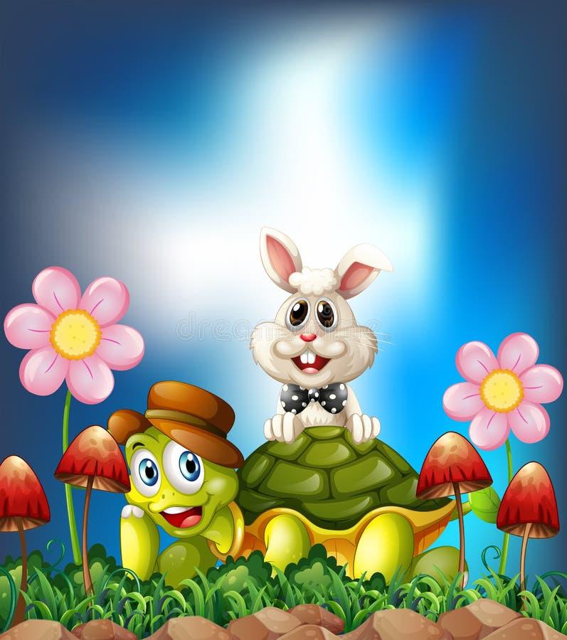 Tortoise and hare stock illustration