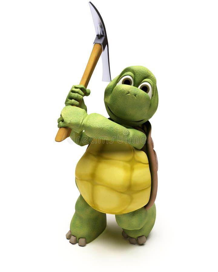 Tortoise with pick axe