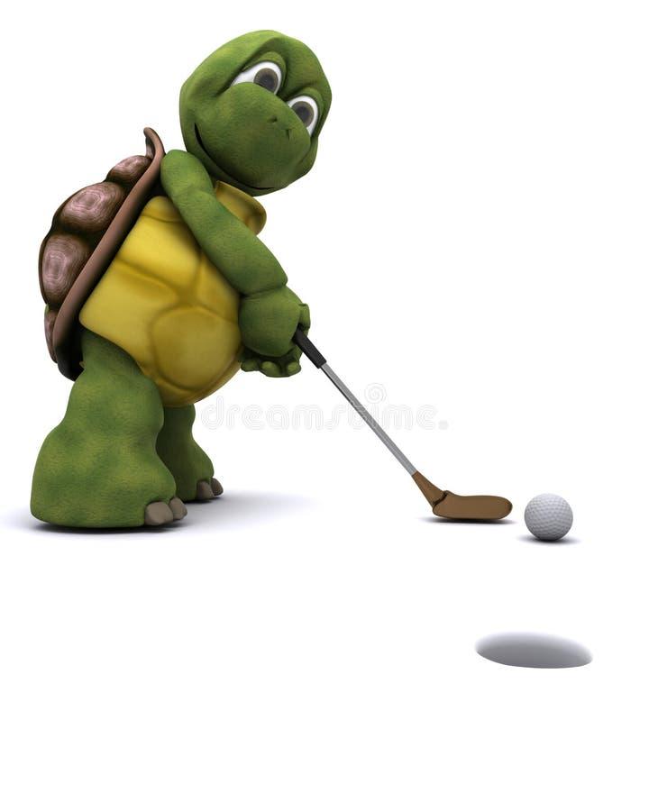 Tortoise Playing Golf Royalty Free Stock Photos