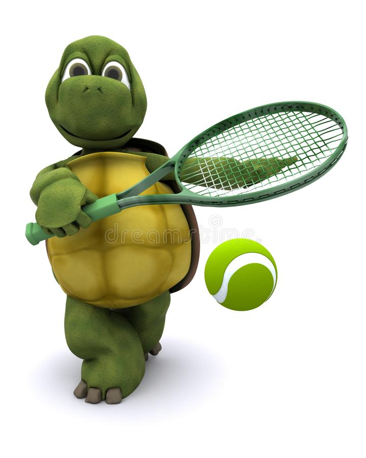 Download Tortoise playing tennis stock illustration. Illustration of ecology - 20983485