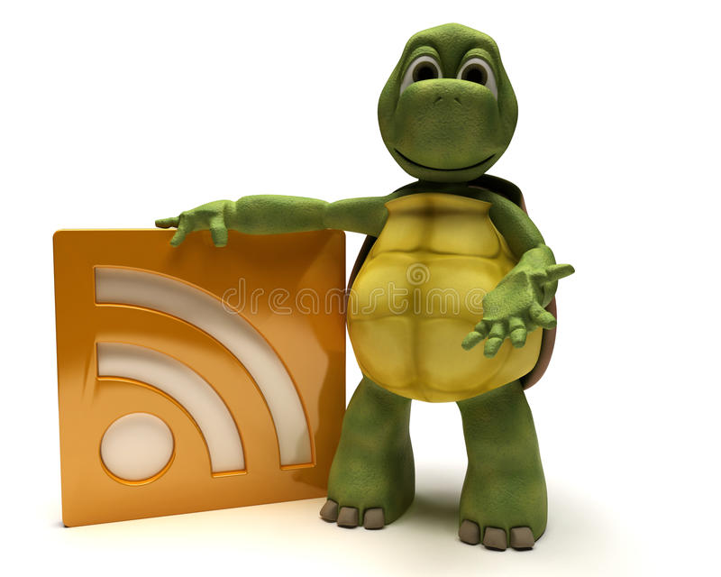 Download Tortoise With An Rss Symbol Stock Illustration - Illustration of tortoise, website: 18633167