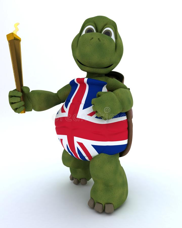 Download Tortoise Running With Othe Olympic Torch Stock Illustration - Image: 24672960