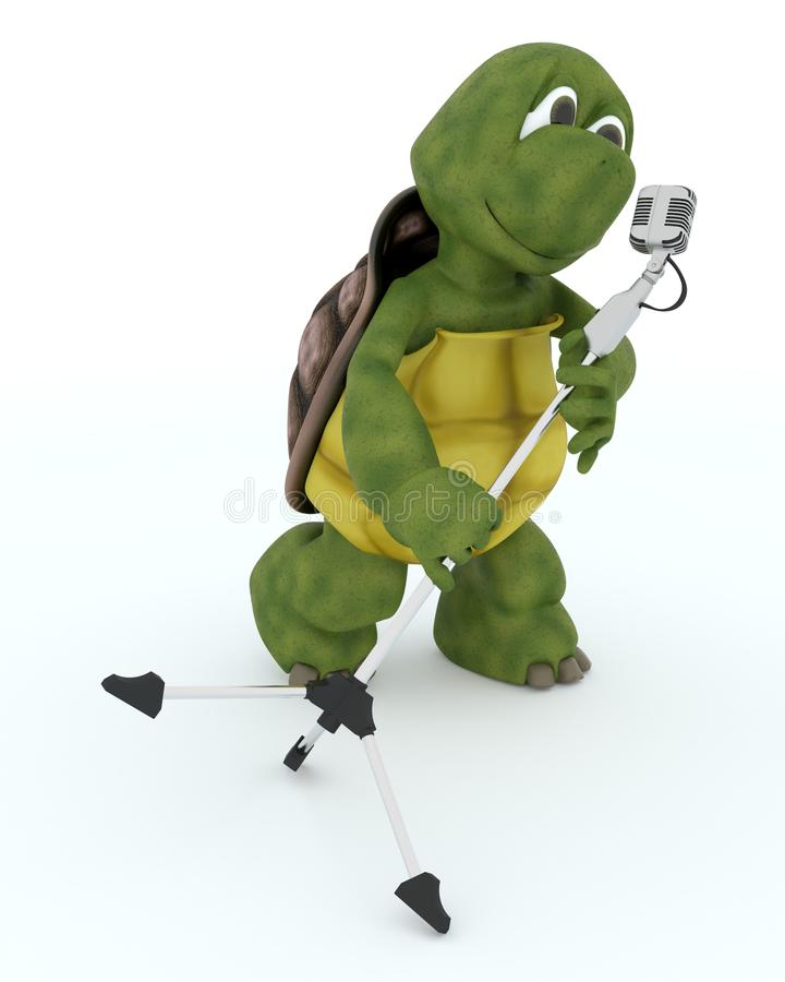 Download Tortoise Singing Into A Retro Microphone Stock Illustration - Image: 28982174