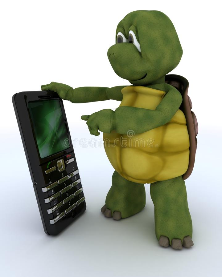 Download Tortoise With A Smart Phone Royalty Free Stock Photo - Image: 23761005