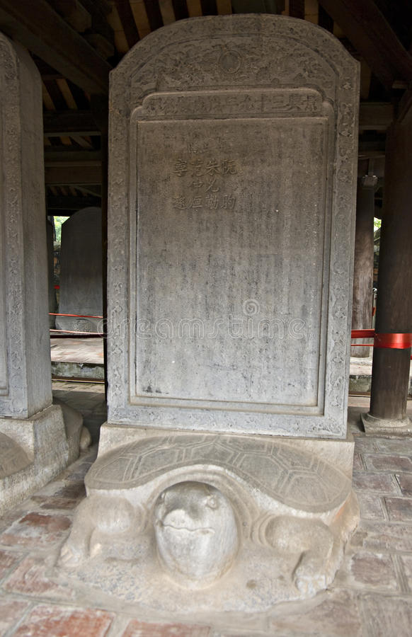 Free Tortoise Stele In The Temple Of Literature Stock Photography - 28924342