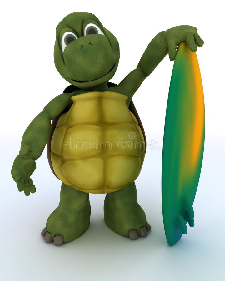 Download Tortoise With Surf Board Royalty Free Stock Photography - Image: 25498927
