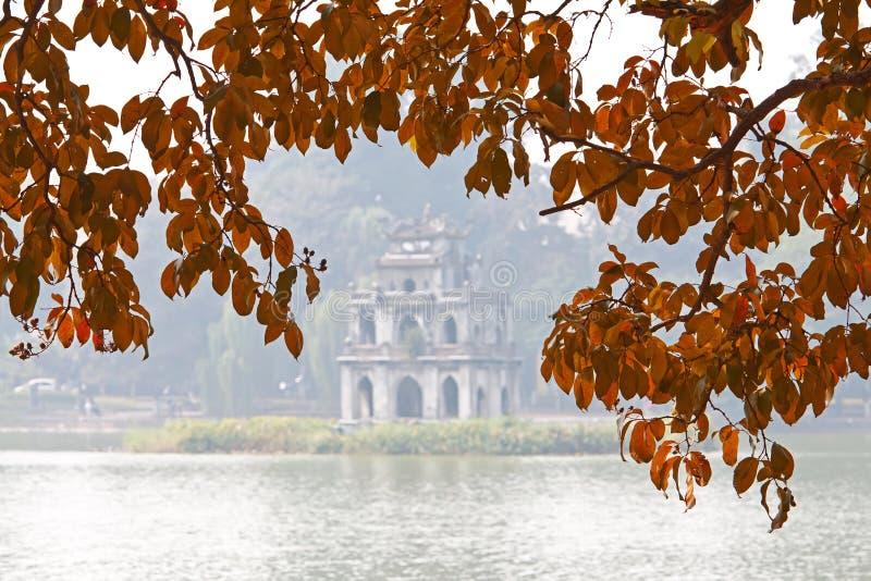 Download Tortoise Tower stock image. Image of hanoi, sword, kiem - 25072759