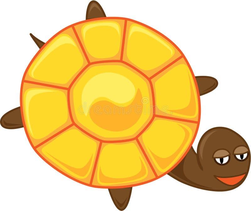 Tortoise with yin-yang vector illustration