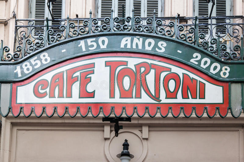 Tortoni Cafe Buenos Aires Argentina stock images