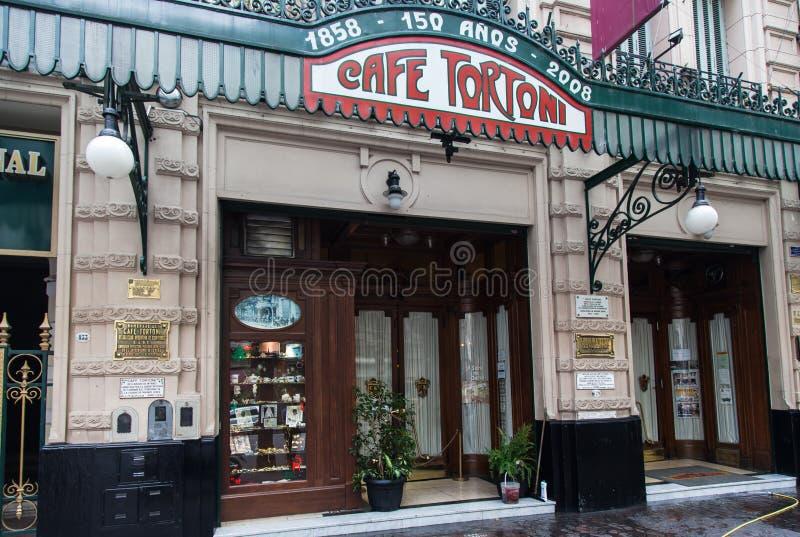 Tortoni Cukierniany Buenos Aires Argentyna zdjęcie royalty free