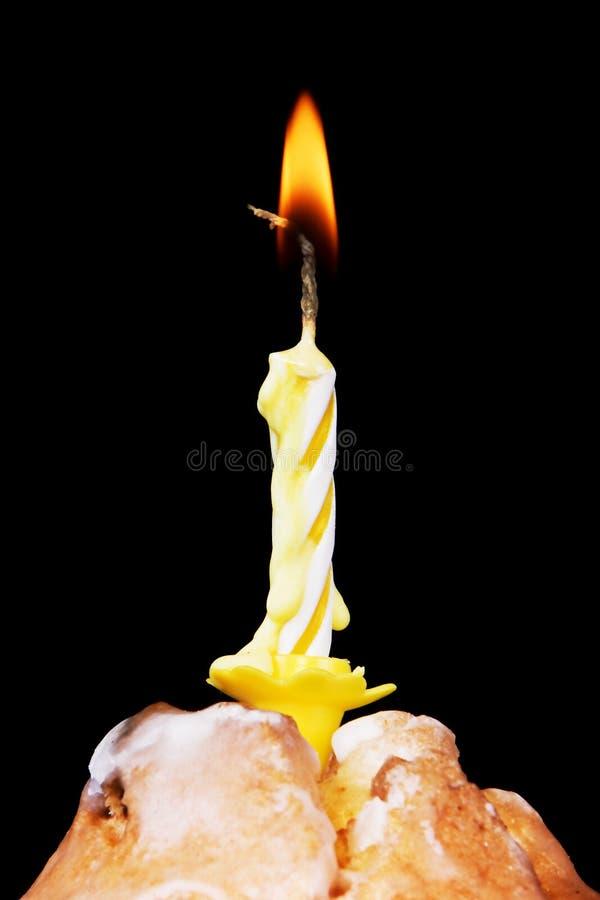 tortowa świeczka fotografia royalty free