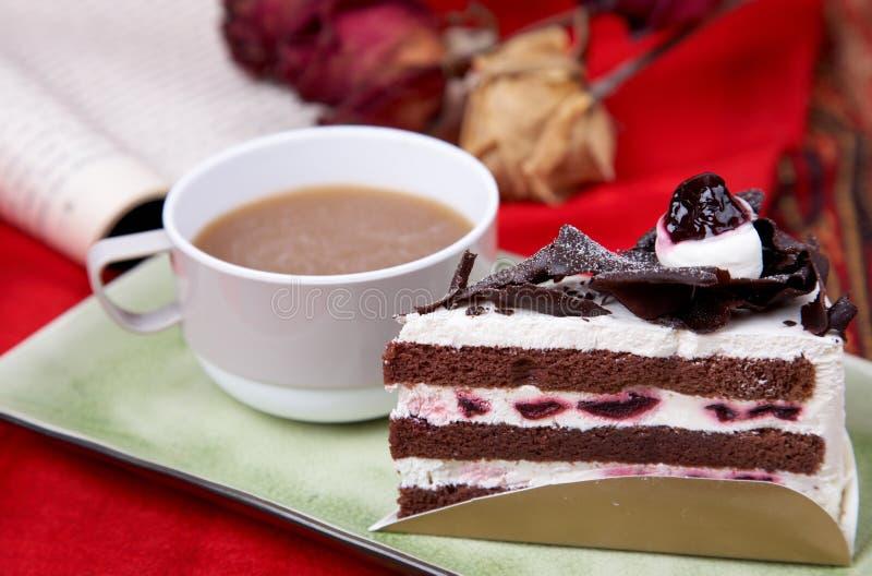 tortowa czekoladowa kawa fotografia royalty free