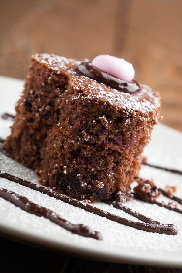 tortowa czekoladowa truskawka zdjęcie royalty free