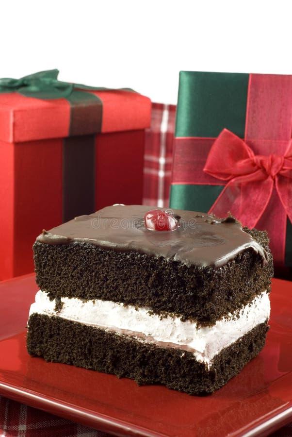 tortowa czekoladowa wyśmienicie wakacyjna warstwa trzy fotografia royalty free