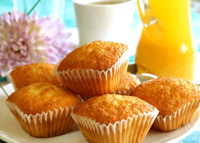 tortowa filiżanki soku pomarańcze herbata zdjęcia royalty free