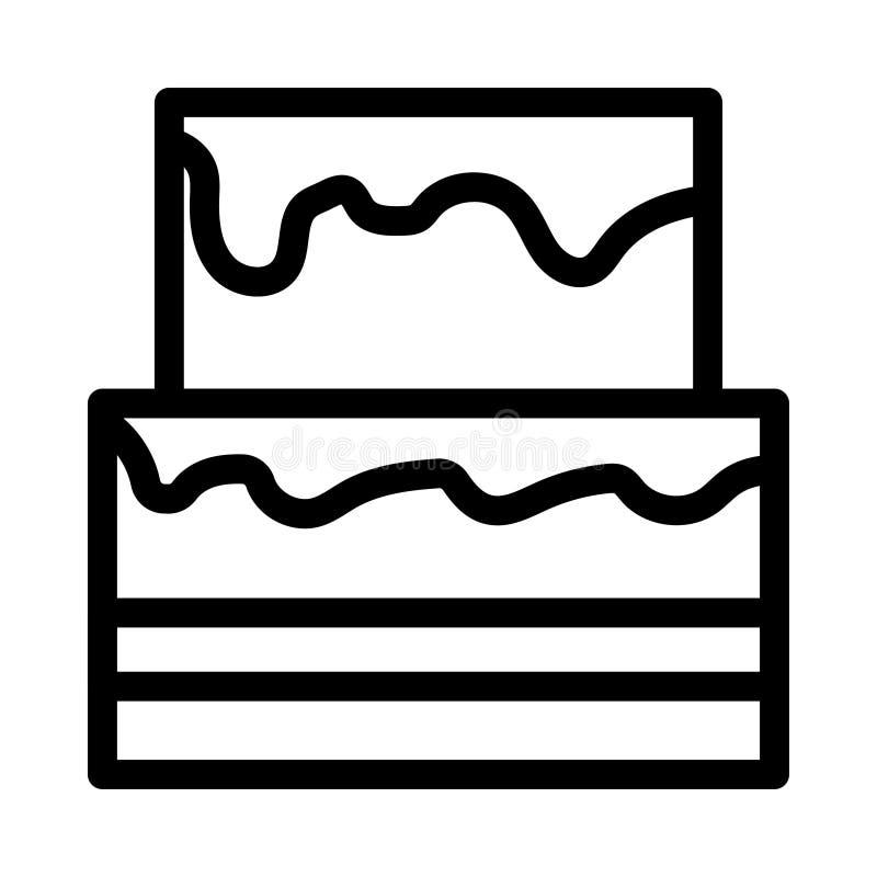 Tortowa ikona royalty ilustracja