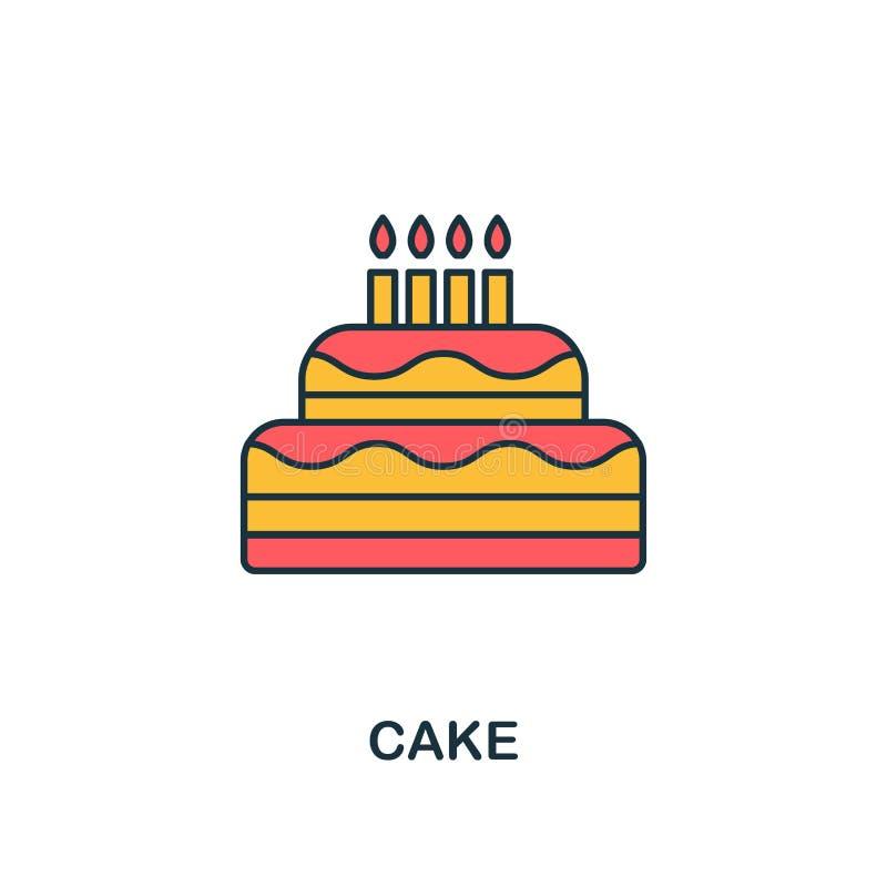 Tortowa ikona Kreatywnie 2 koloru projektują fromCake ikonę od partyjnej ikony kolekcji Doskonalić dla sieć projekta, apps, oprog ilustracja wektor