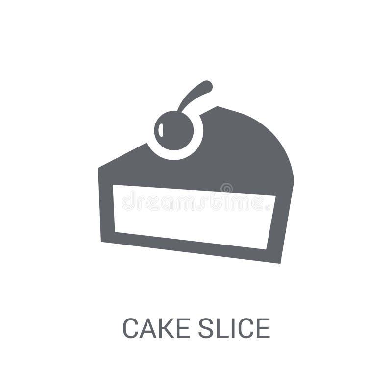 Tortowa plasterek ikona  ilustracji