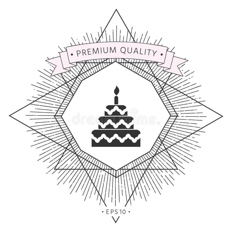 Tortowa symbol ikona royalty ilustracja