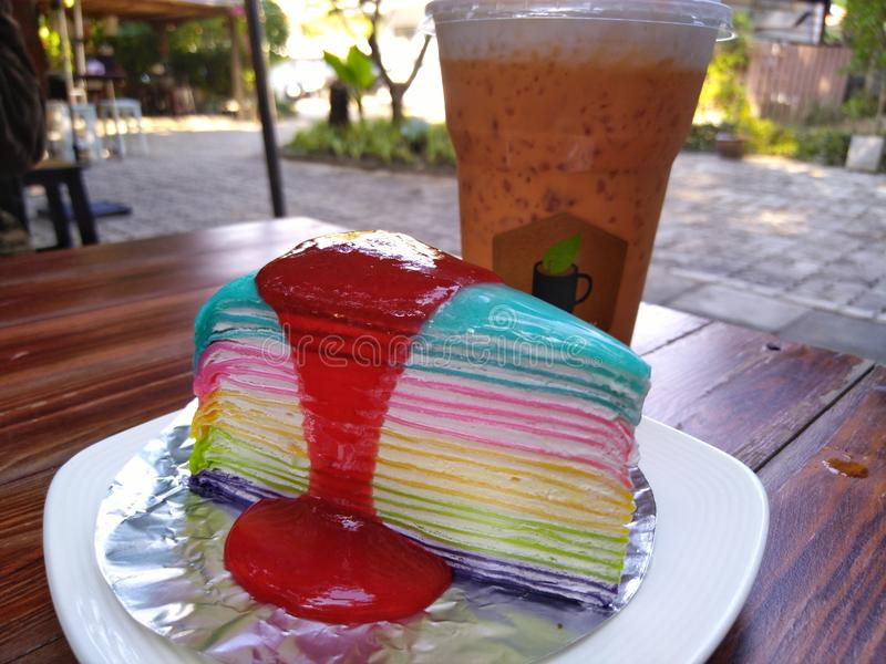Tortowa & tajlandzka herbata obraz stock