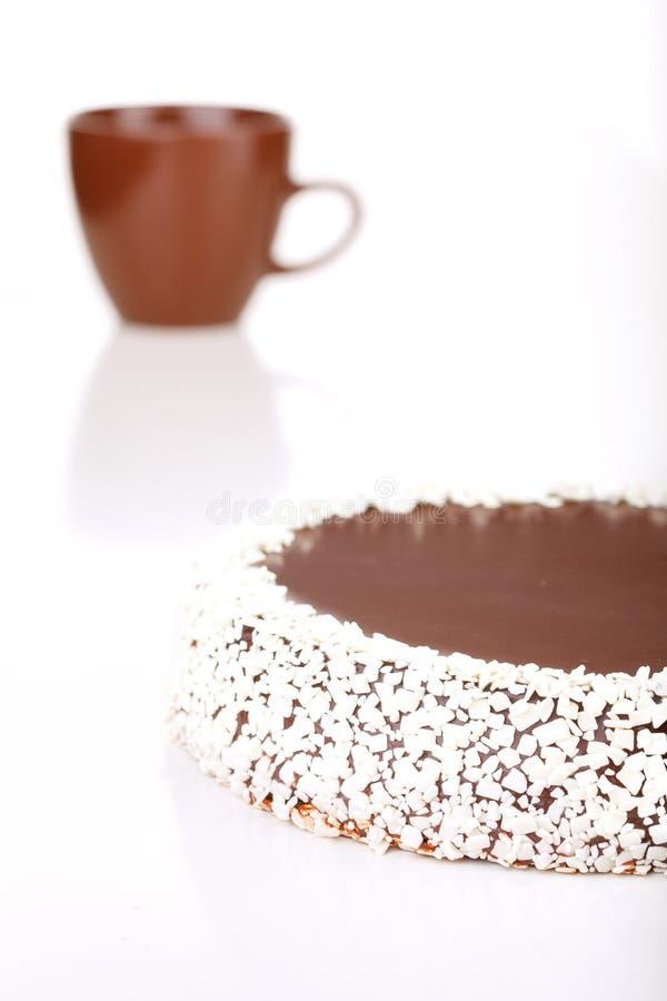 tortowej pojedynczy białe czekoladki zdjęcie stock