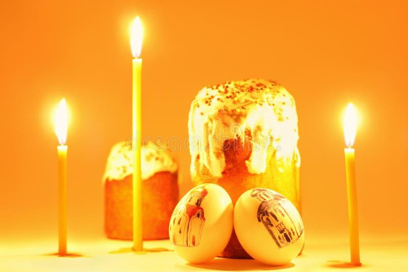 tortowi świeczki Easter jajka zdjęcia royalty free
