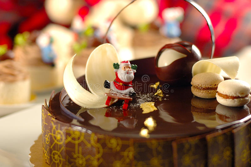 tortowi czekoladowi boże narodzenia zdjęcia royalty free