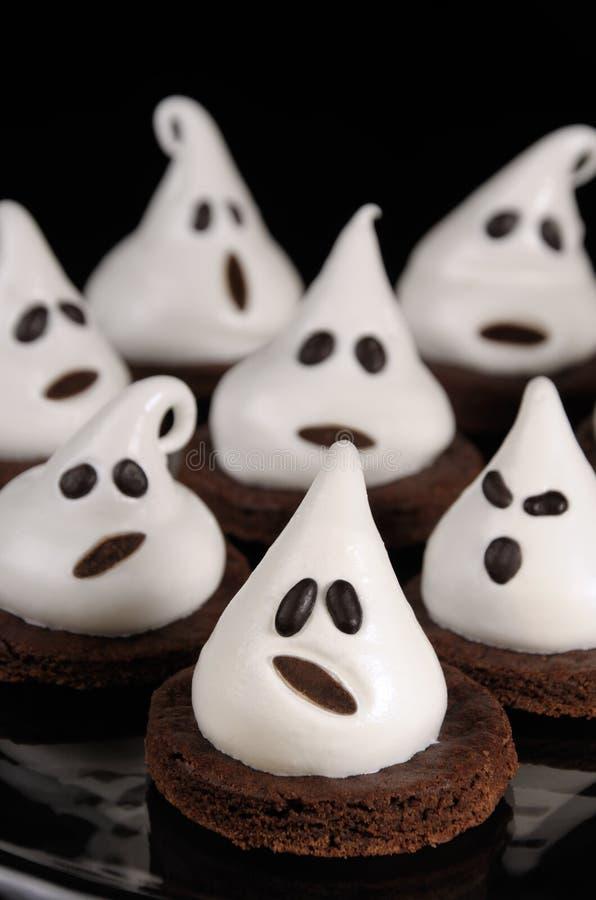 Tortowi duchy dla Halloween zdjęcia royalty free