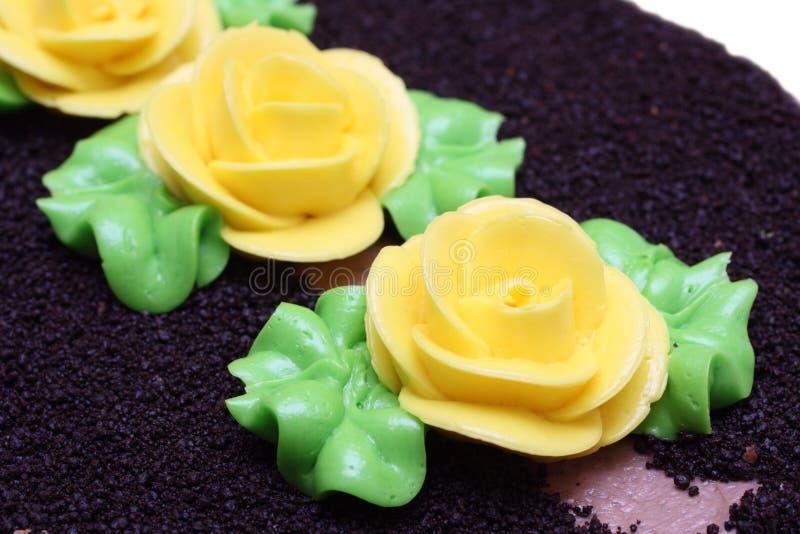 tortowy czekolady zakończenia cukierki tortowy fotografia stock