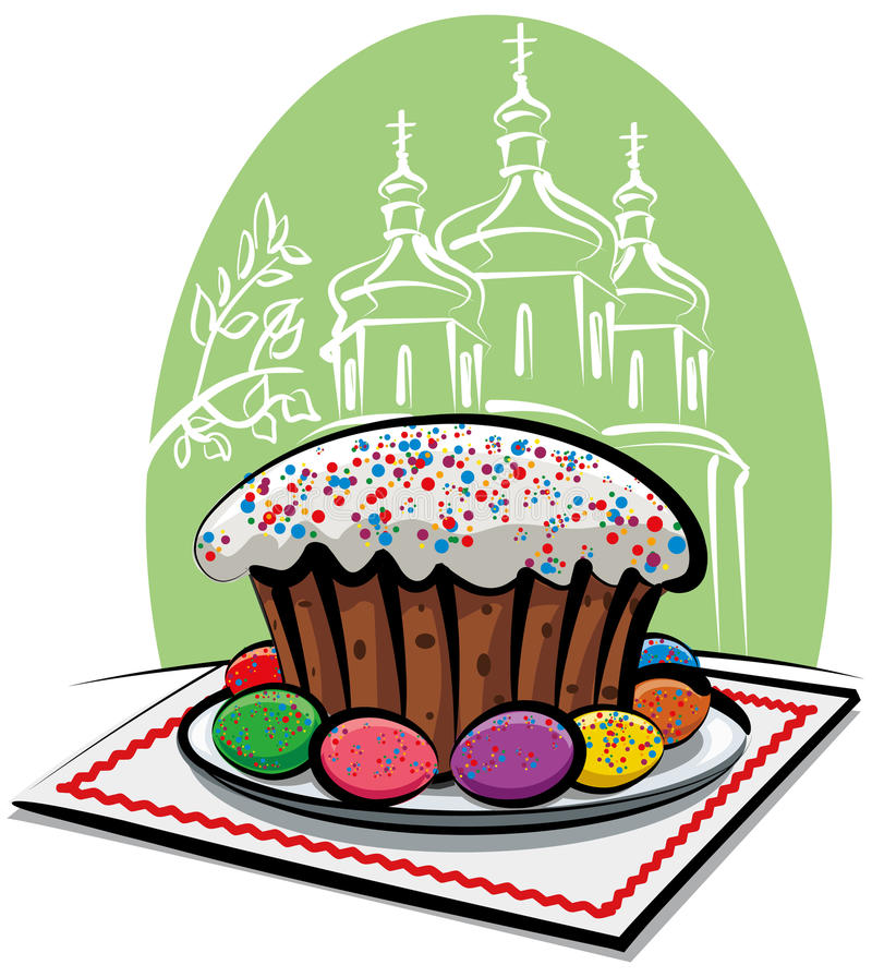 tortowy Easter ilustracja wektor