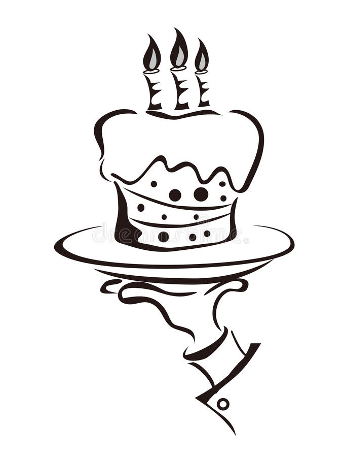 tortowy ręki mienia symbol royalty ilustracja