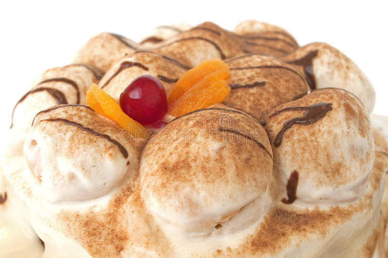 tortowych wiśni czekoladowy biel zdjęcia royalty free