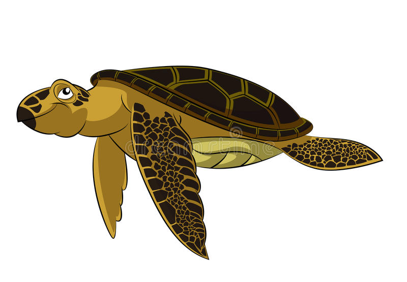 Tortue de mer illustration de vecteur