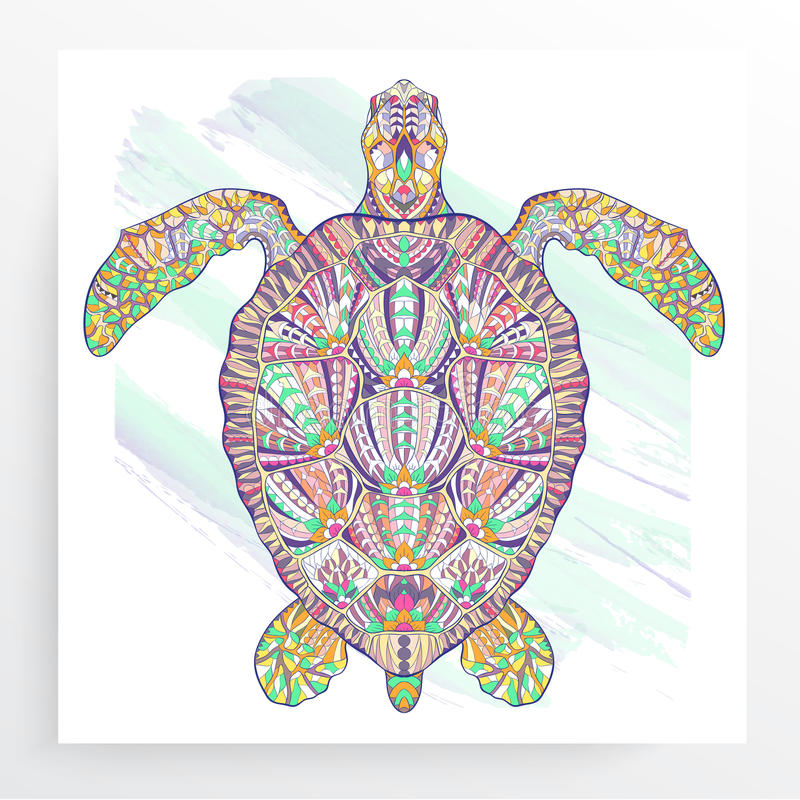 Tortue modelée illustration de vecteur
