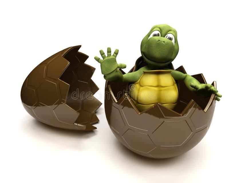 Tortuga con un huevo del éster ilustración del vector