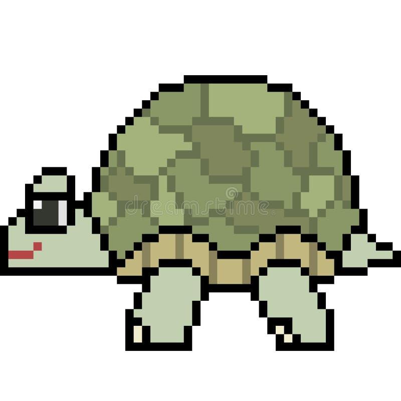 Tortuga del arte del pixel del vector stock de ilustración