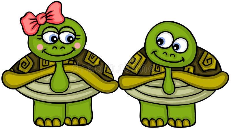 Tortuga linda de los pares libre illustration