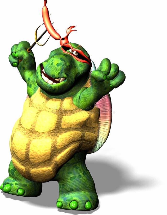 Tortuga terrible ilustración del vector