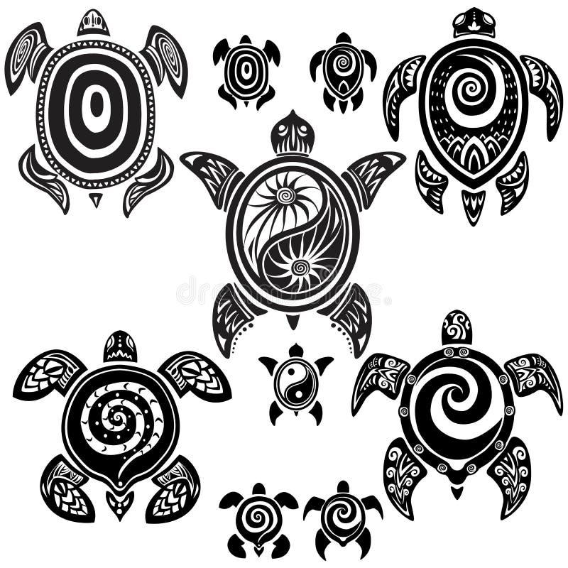 Tortugas decorativas ilustración del vector
