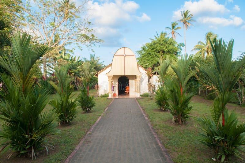 Tortuguero church. Small church of the Tortuguero town, Costa Rica stock photos
