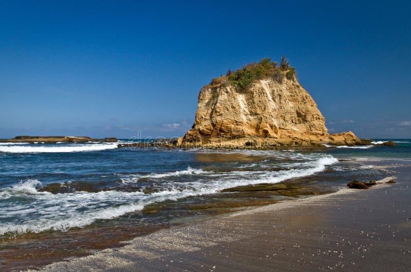 Tortuguita plaża, Machalilla park narodowy zdjęcia stock