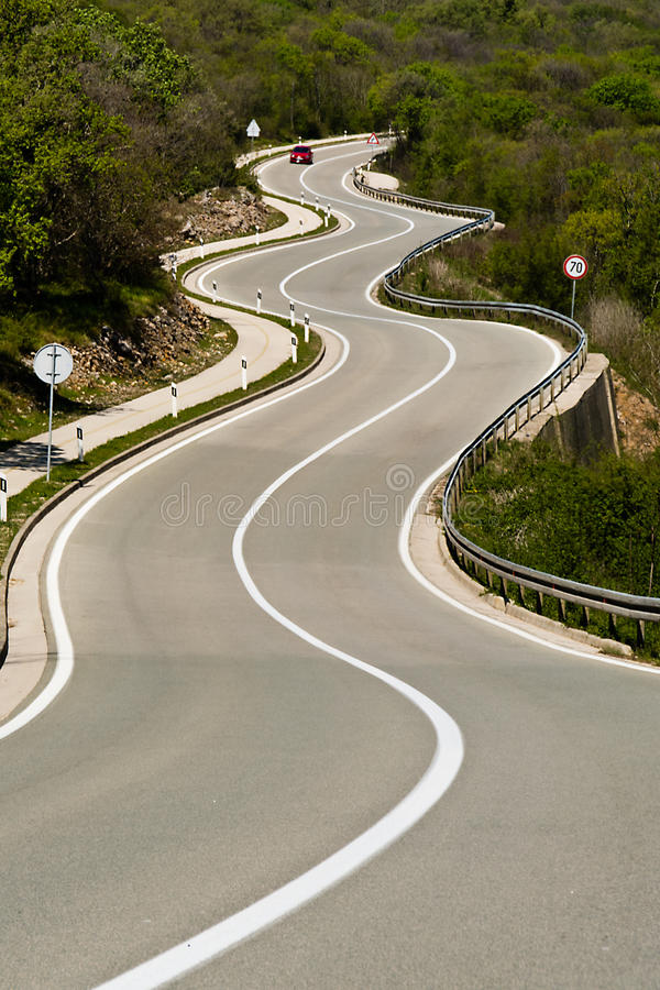 Tortuous road stock photo