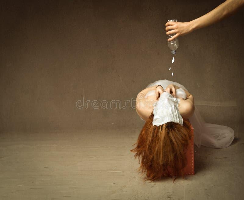 torture avec de l'eau photographie stock