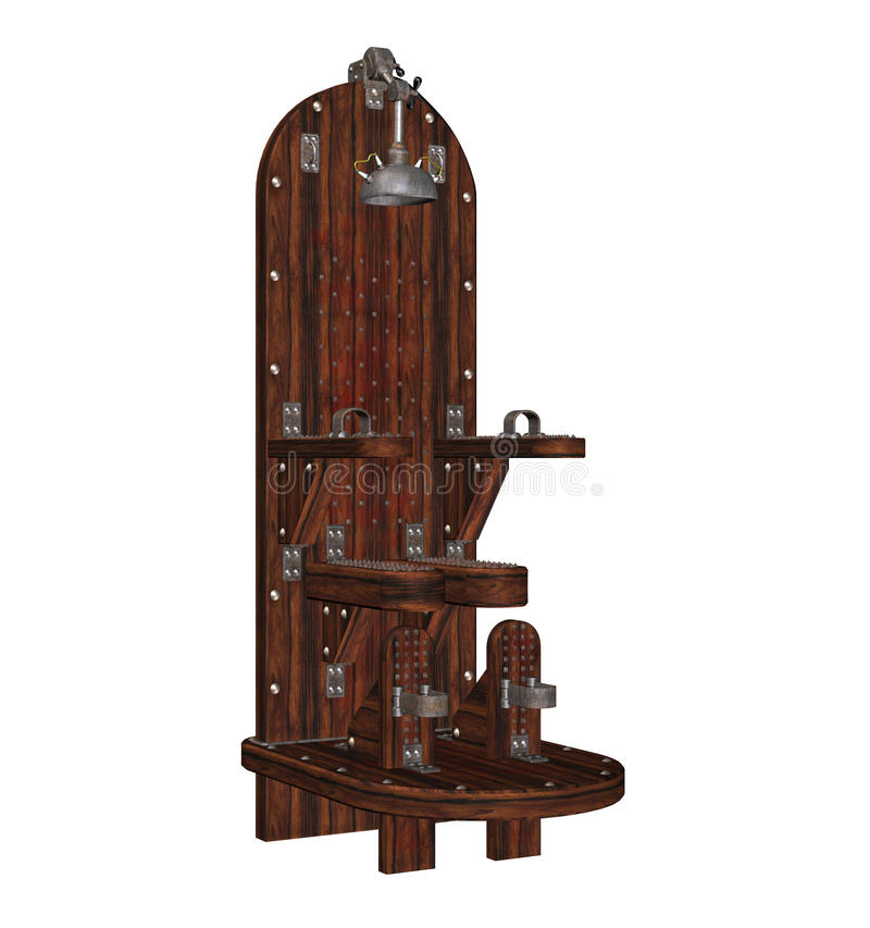 Download Torture chair stock illustration. Image of seat, spooky - 14538904